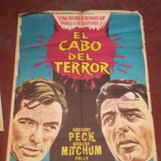 Cine: POSTER / CARTEL DE CINE ORIGINAL. EL CABO DEL TERROR. GREGORY PECK, POLLY BERGEN. 100 X 70CM.. Lote 261842780