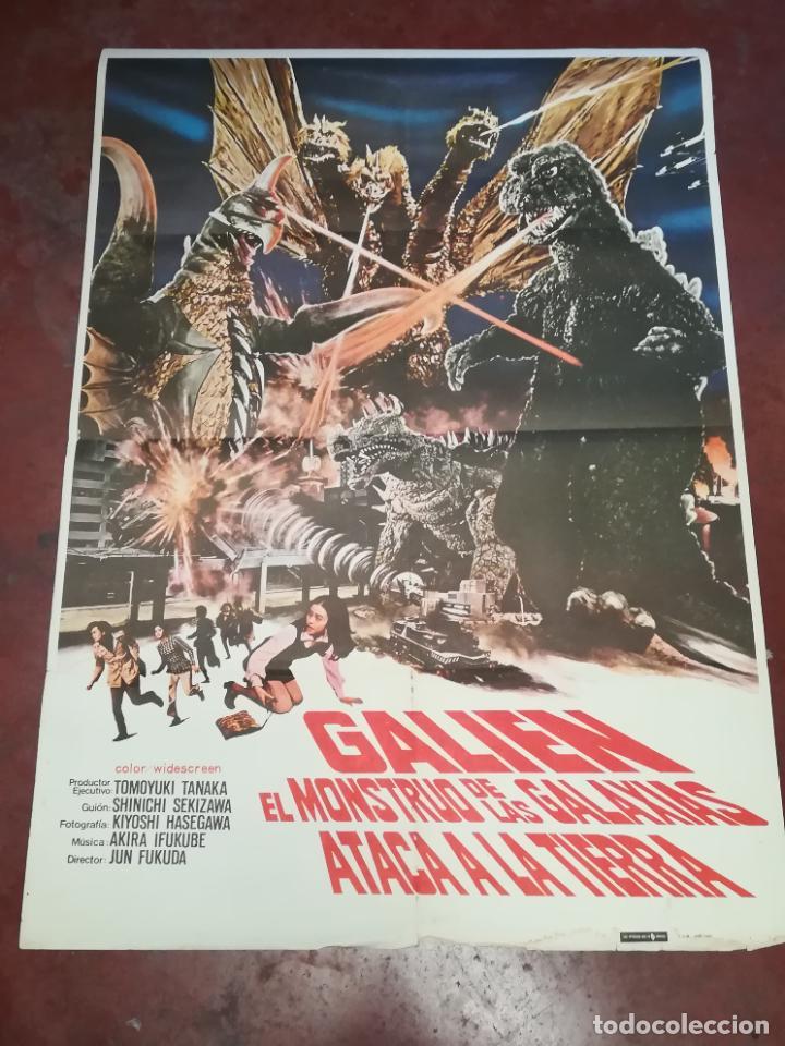 POSTER / CARTEL DE CINE ORIGINAL. GALIEN EL MONSTRUO DE LAS GALAXIAS ATACA A LA TIERRA. 100 X 70CM. (Cine - Posters y Carteles - Acción)