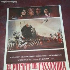 Cinema: POSTER / CARTEL DE CINE ORIGINAL. EL PUENTE DE CASSANDRA. SOFIA LOREN. 100 X 70CM.. Lote 261845440