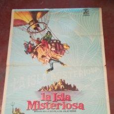 Cine: POSTER / CARTEL DE CINE ORIGINAL. LA ISLA MISTERIOSA. MICHAEL CRAIG. 100 X 70CM.. Lote 261848290