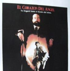 Cine: EL CORAZÓN DEL ANGEL, CON ROBERT DE NIRO. POSTER.. 65,5 X 90 CMS.1987,. Lote 261854680