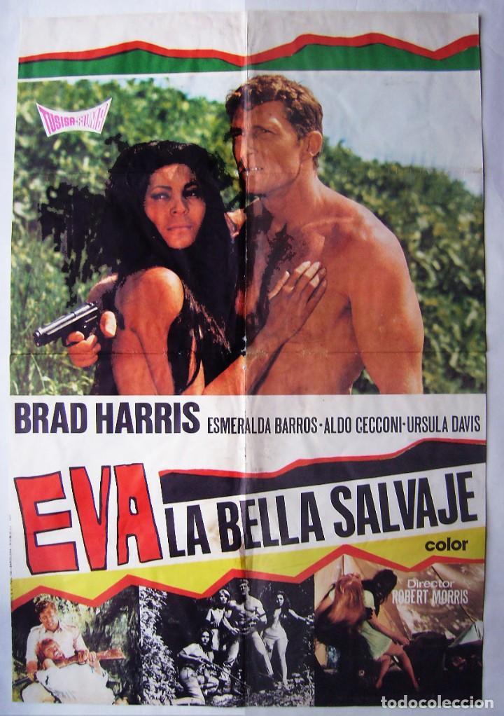 EVA, LA BELLA SALVAJE, CON BRAD HARRIS. POSTER. 65,5 X 90 CMS.1977, (Cine - Posters y Carteles - Acción)