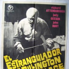 Cine: EL ESTRANGULADOR DE RILLINGTON PLACE, CON RICHARD ATTENBOROUGH. POSTER. 70 X 100 CMS. 1973.. Lote 261865355