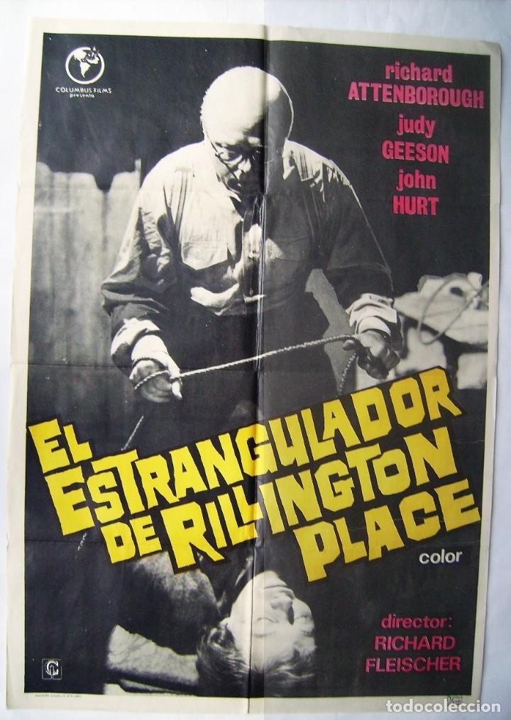 EL ESTRANGULADOR DE RILLINGTON PLACE, CON RICHARD ATTENBOROUGH. POSTER. 70 X 100 CMS. 1973. (Cine - Posters y Carteles - Terror)