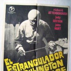 Cine: EL ESTRANGULADOR DE RILLINGTON PLACE, CON RICHARD ATTENBOROUGH. POSTER. 70 X 100 CMS. 1973.. Lote 261865525