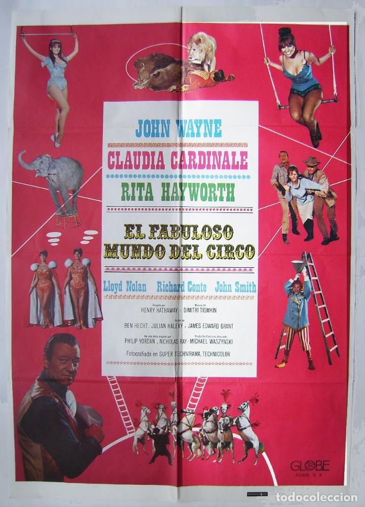 EL FABULOSO MUNDO DEL CIRCO, CON JOHN WAYNE. POSTER. 70 X 100 CMS. 1979. (Cine- Posters y Carteles - Drama)