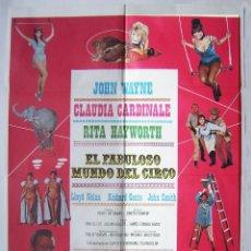 Cine: EL FABULOSO MUNDO DEL CIRCO, CON JOHN WAYNE. POSTER. 70 X 100 CMS. 1979.. Lote 261868110