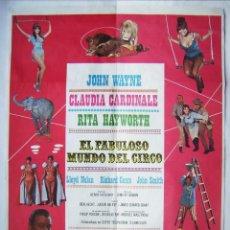 Cine: EL FABULOSO MUNDO DEL CIRCO, CON JOHN WAYNE. POSTER. 70 X 100 CMS. 1979.. Lote 261868315