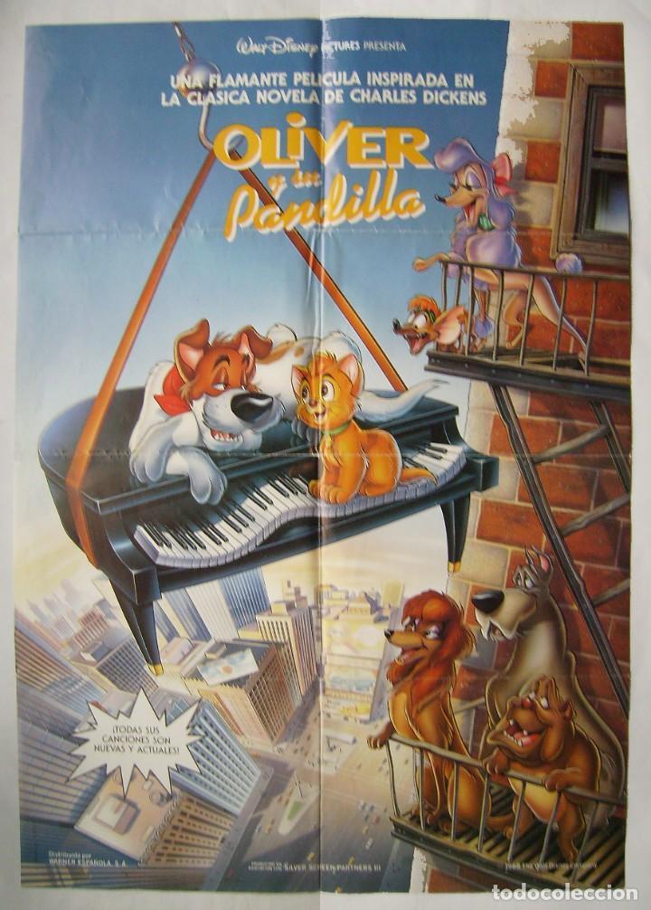 OLIVER Y SU PANDILLA. PÓSTER 69,5 X 99,5 CMS. 1988 (Cine - Posters y Carteles - Infantil)