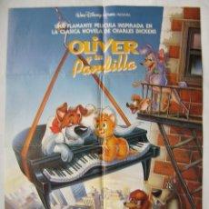 Cine: OLIVER Y SU PANDILLA. PÓSTER 69,5 X 99,5 CMS. 1988. Lote 261868645
