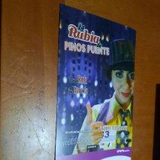 Cine: LA RUBIA DE PINOS PUENTE. VILLANUEVA. CARTEL PROMO CORTOMETRAJE. DETRÁS INFO. BUEN ESTADO. DIFICIL. Lote 262006200