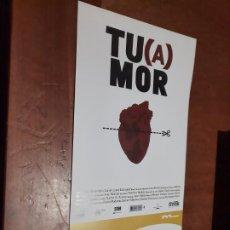 Cine: TU(A)MOR. FERNANDO FRANCO. CARTEL PROMO CORTOMETRAJE. DETRÁS INFO. BUEN ESTADO. DIFICIL. Lote 262006710