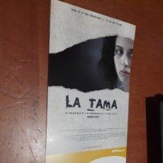 Cine: LA TAMA. MARTÍN COSTA. CARTEL PROMO CORTOMETRAJE. DETRÁS INFO. BUEN ESTADO. DIFICIL. Lote 262007255
