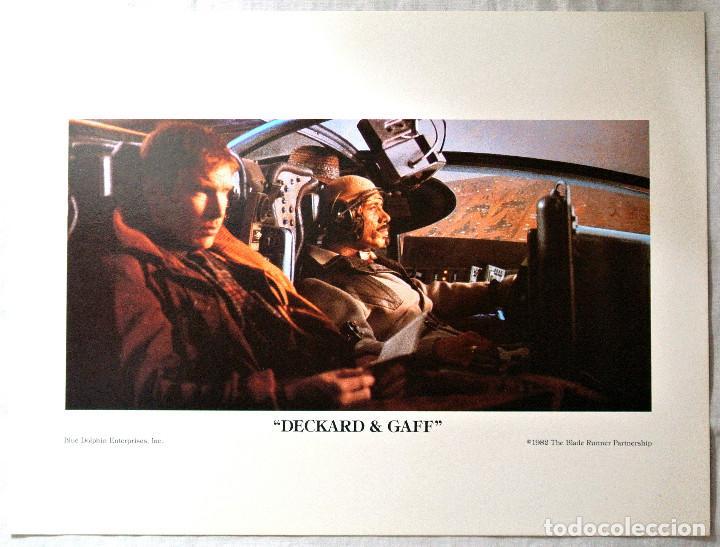 BLADE RUNNER ORIGINAL 1982 ,DECKARD Y GAFF, LAMINA ESCENA DE LA PELICULA, 23 X 30.5 CMS (Cine - Posters y Carteles - Acción)
