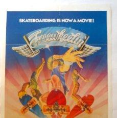Cine: POSTER ORIGINAL USA / SKATE / FREEWHEELIN / 1976 / SCOTT DITTRICH / STACY PERALTA / 34X76 CM. Lote 262189240