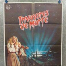 Cine: INVASORES DE MARTE. HUNTER CARSON, KAREN BLACK. AÑO 1986. POSTER ORIGINAL. Lote 262238160