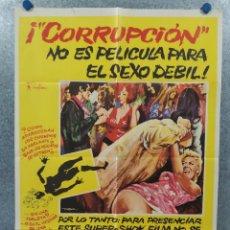 Cine: CORRUPCIÓN. PETER CUSHING, SUE LLOYD, NOEL TREVARTHEN. POSTER ORIGINAL. Lote 262238490
