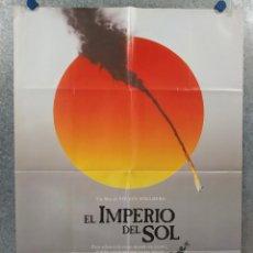 Cine: EL IMPERIO DEL SOL. CHRISTIAN BALE, JOHN MALKOVICH, STEVEN SPIELBERG. AÑO 1987. POSTER ORIGINAL. Lote 262239200