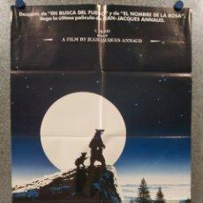 Cine: EL OSO. TCHEKY KARYO, JACK WALLACE, ANDRE LACOMBRE, JEAN-JACQUES ANNAUD. POSTER ORIGINAL. Lote 262243815
