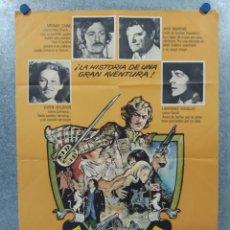 Cine: DAVID Y CATRIONA. MICHAEL CAINE, TREVOR HOWARD, JACK HAWKINS. AÑO 1972. POSTER ORIGINAL. Lote 262251785