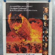 Cine: HINDENBURG. GEORGE C. SCOTT, ANNE BANCROFT, WILLIAM ATHERTON. AÑO 1976. POSTER ORIGINAL. Lote 262252465