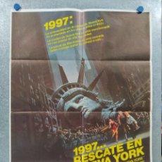 Cine: 1997: RESCATE EN NUEVA YORK. KURT RUSSELL, LEE VAN CLEEF. AÑO 1981. POSTER ORIGINAL. Lote 262255610