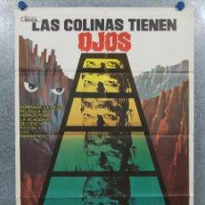 Cine: LAS COLINAS TIENEN OJOS. SUSAN LANIER, ROBERT HOUSTON, MARTIN SPEER. AÑO 1979. POSTER ORIGINAL. Lote 262268460