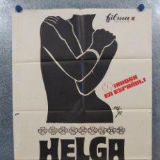 Cine: HELGA, EL MILAGRO DE LA VIDA. RUTH GASSMANN, EBERHARD MONDRY. AÑO 1975. POSTER ORIGINAL. Lote 262372740