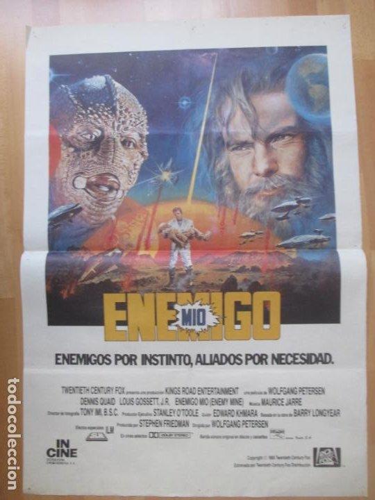 CARTEL CINE ENEMIGO MIO DENNIS QUAID LOUIS GOSSETT J.R 1985 C2050 (Cine - Posters y Carteles - Ciencia Ficción)