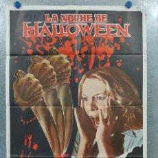 Cine: LA NOCHE DE HALLOWEEN. DONALD PLEASENCE, JAMIE LEE CURTIS, JOHN CARPENTER. AÑO 1979 POSTER ORIGINAL. Lote 262380545