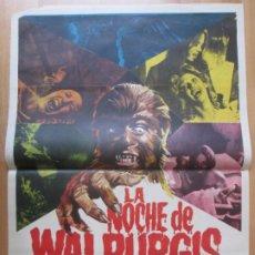 Cine: CARTEL CINE LA NOCHE DE WALPURGIS PAUL NASCHY GABY FUCHS 1971 JANO C2053. Lote 262382525