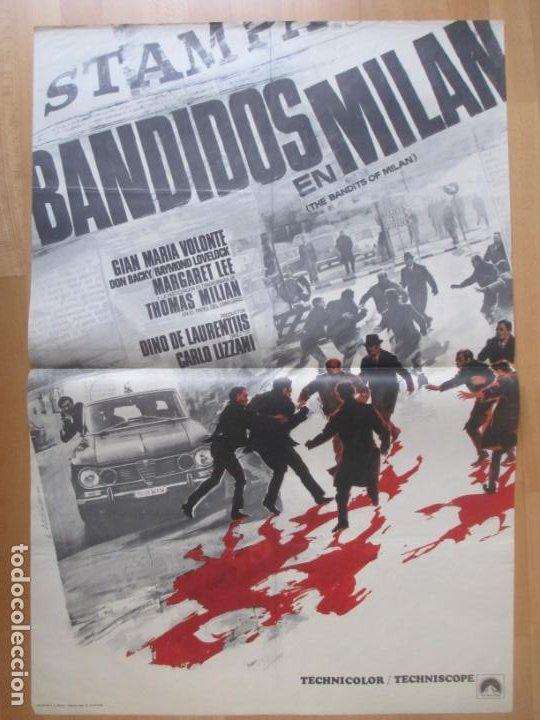 CARTEL CINE BANDIDOS EN MILAN GIAN MARIA VOLONTE MARGARET LEE 1968 LANDI C2055 (Cine- Posters y Carteles - Drama)