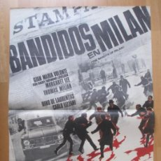 Cine: CARTEL CINE BANDIDOS EN MILAN GIAN MARIA VOLONTE MARGARET LEE 1968 LANDI C2055. Lote 262383115