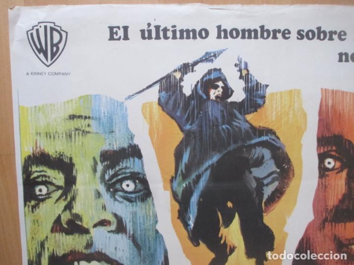 Cine: CARTEL CINE EL ULTIMO HOMBRE... VIVO CHARLTON HESTON ANTHONY ZERBE 1971 C2062 - Foto 3 - 262387225