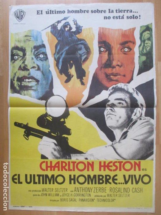 CARTEL CINE EL ULTIMO HOMBRE... VIVO CHARLTON HESTON ANTHONY ZERBE 1971 C2062 (Cine - Posters y Carteles - Ciencia Ficción)