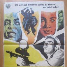 Cine: CARTEL CINE EL ULTIMO HOMBRE... VIVO CHARLTON HESTON ANTHONY ZERBE 1971 C2062. Lote 262387225