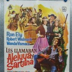 Cine: LES LLAMABAN ALELUYA Y SARTANA. RON ELY, ALBERTO DELL'ACQUA, USCHI GLAS. AÑO 1973. POSTER ORIGINAL. Lote 262395710