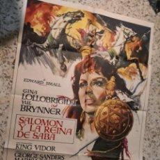 Cinéma: SALOMON Y LA REINA DE SABA GINA LOLLOBRIGIDA POSTER ORIGINAL 70X100 ESPAÑOL. Lote 262401280