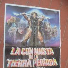 Cine: CARTEL DE CINE 70X 100 APROX MOVIE POSTER VER FOTO LA CONQUISTA DE LA TIERRA PERDIDA. Lote 262417980