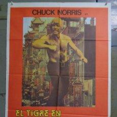 Cine: CDO K828 EL TIGRE EN SAN FRANCISCO CHUCK NORRIS KARATE POSTER ORIGINAL 70X100 ESTRENO. Lote 262426760