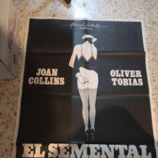 Cine: EL SEMENTAL JOAN COLLINS POSTER ORIGINAL 70X100. Lote 262631655