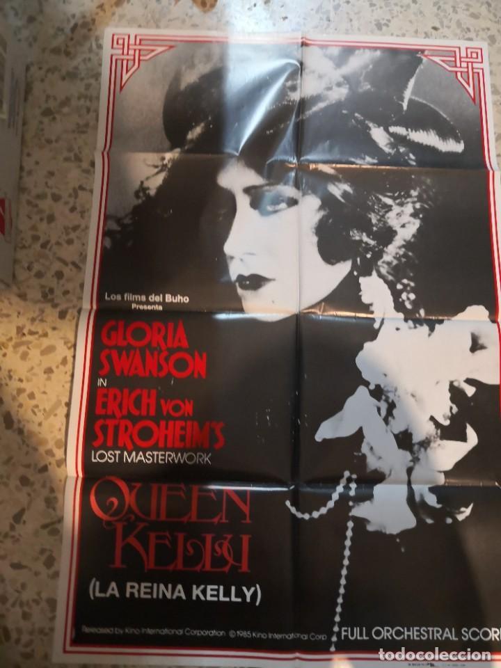 LA REINA KELLY GLORIA SWANSON ERICH VON STROHEIM POSTER ORIGINAL 70X100 ESPAÑOL (Cine - Posters y Carteles - Suspense)