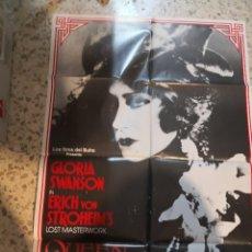 Cine: LA REINA KELLY GLORIA SWANSON ERICH VON STROHEIM POSTER ORIGINAL 70X100 ESPAÑOL. Lote 262633060