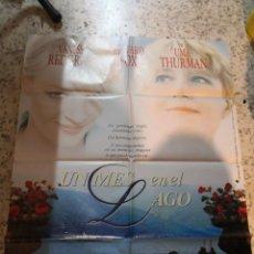 Cine: UN MES EN EL LAGO - VANESSA REDGRAVE, UMA THURMAN, EDWARD FOX - POSTER ORIGINAL LAUREN 1996. Lote 262684480