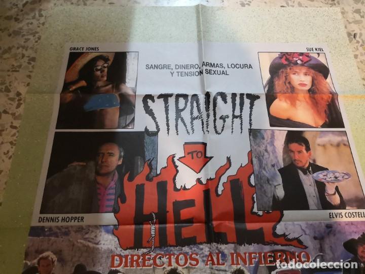 Cine: Raro cartel. directos al infierno straight to hell.Grace Jones,Sue Kiel, Elvis Costello,hopper denni - Foto 2 - 262688140