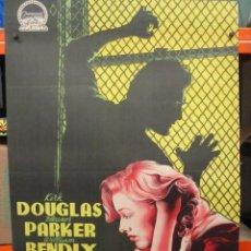 Cine: BRIGADA 21 - KIRK DOUGLAS - ELEANOR PARKER - POSTER ORIGINAL 70X100 ESTRENO 1952 - LITOGRAFIA. Lote 262695825
