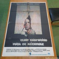 Cine: CARTEL ORIGINAL DE FUGA DE ALCATRAZ, 99 CM X 70 CM, PLEGADO.. Lote 262813810
