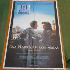 Cine: CARTEL ORIGINAL DE UNA HABITACIÓN CON VISTAS, 100 CM X 70 CM, PLEGADO.. Lote 262814655