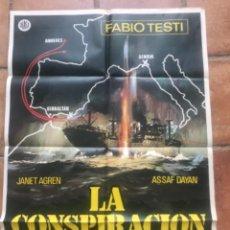 Cine: CARTEL DE LA CONSPIRACIÓN DEL URANIO FABIO TESTI 1978.. Lote 263248375