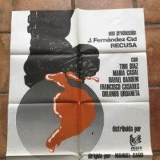 Cine: CARTEL DE CINE DE PERRO DE ALAMBRE 1980.. Lote 263251140